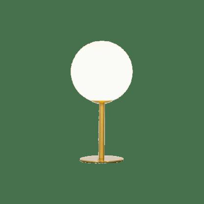 Molekyl bordlampe G9 25W Messing/Hvit | Belysning.online
