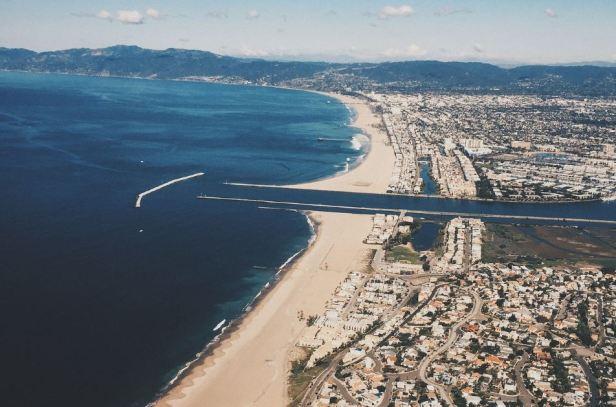Aerial view of Marina del Rey