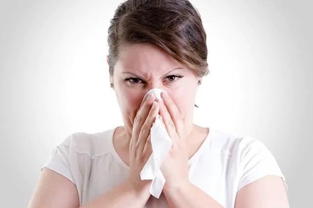 Quando os seios da face estão com muco dizemos que existe uma obstrução nasal