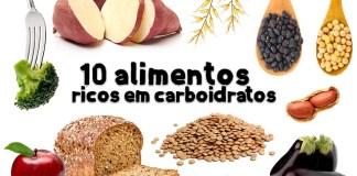 alimentos ricos em carboidratos?