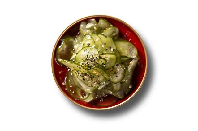 A salada sunomono é um tipo de refeição refrescante