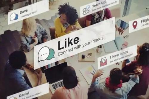 Verificar as redes sociais