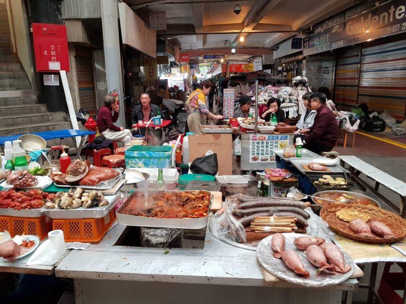 Seoul gwangjang market food gwangjang market blog