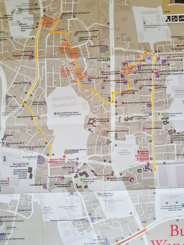 Bukchon Hanok Village Walking Map