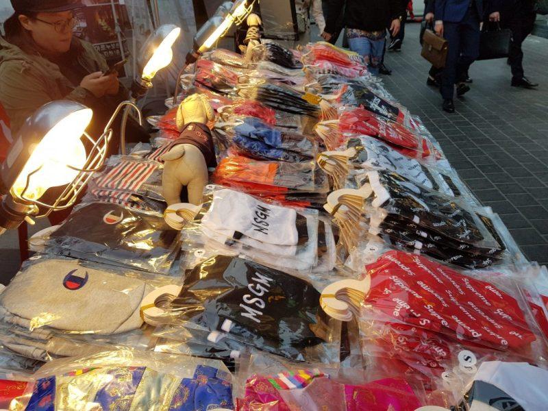 seoul myeongdong street food market