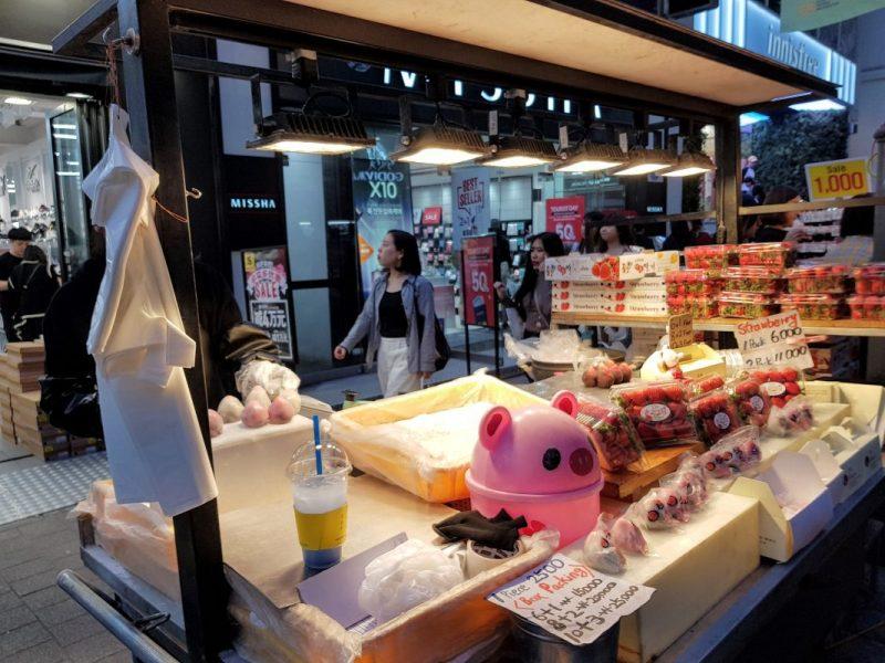 myeongdong food street