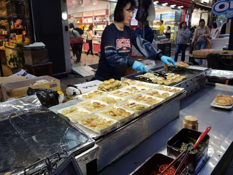myeongdong street food night market