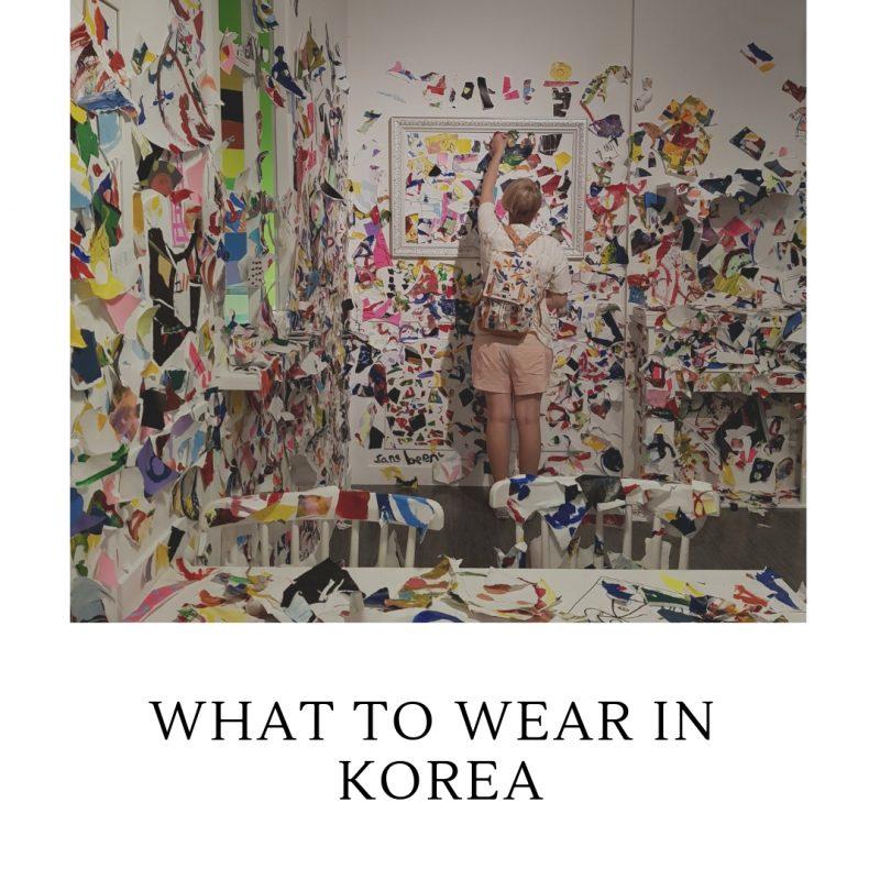 what to wear in korea