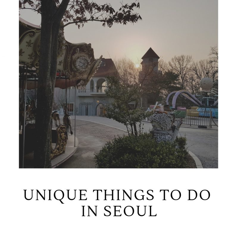 unique things to do in seoul