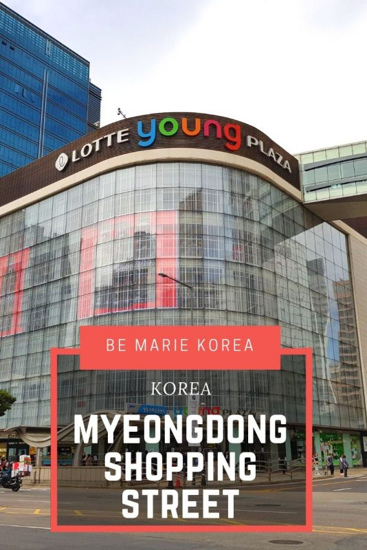myeongdong shopping mall
