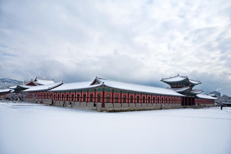 snow in seoul korea