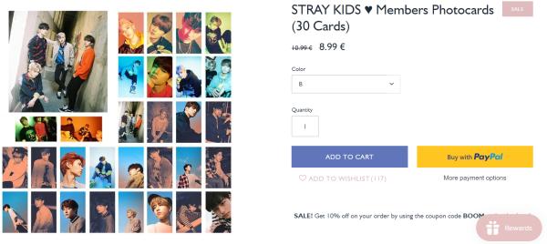 stray kids photo cards