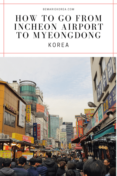 where to buy bus ticket from myeongdong to incheon airport