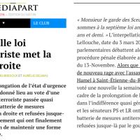 """En douce, M. #Valls le """"législaPeur"""" nous #Trump, new #LoiAntiterroriste de Droite.."""