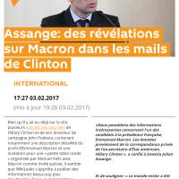 Ho? #Macron dans le viseur de #WikiLeaks, des révélations #EnMarche, #MacronLeaks ...
