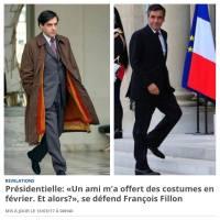 #InSape: «Qui s'imagine refuser des sapes de luxe & sur mesure de la part d'un ami?» #Fillon..