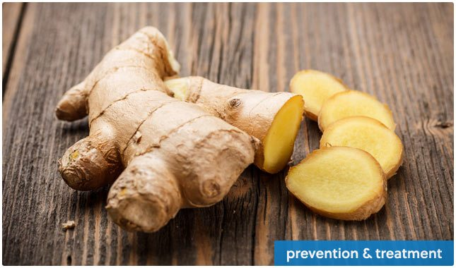 prevent health problems with ginger