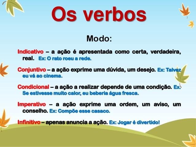 Classe de Palavras - Os Verbos