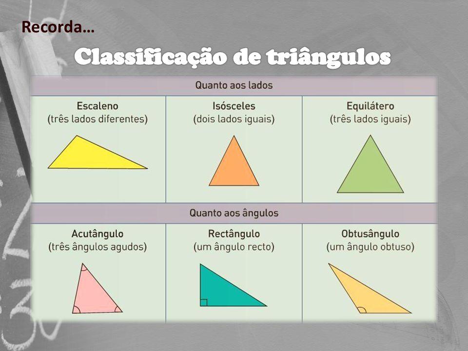 Ficha de Trabalho – Triângulos – Propriedades e classificação e construção (1)