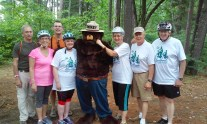 Having fun with Smokey the Bear