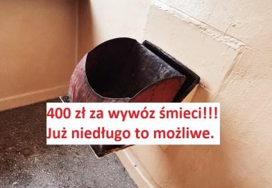 400 zł miesięcznie za wywóz śmieci od mieszkania? To możliwe już wkrótce.