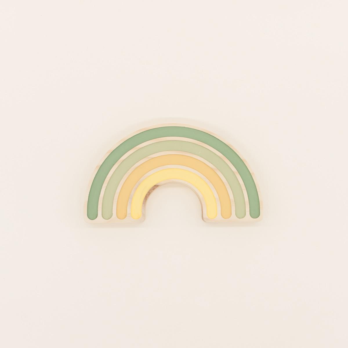 Arcoíris Canastilla Rainbow The Little Revolution Mordedor Canastilla Rainbow The Little Revolution Multicolor Verde