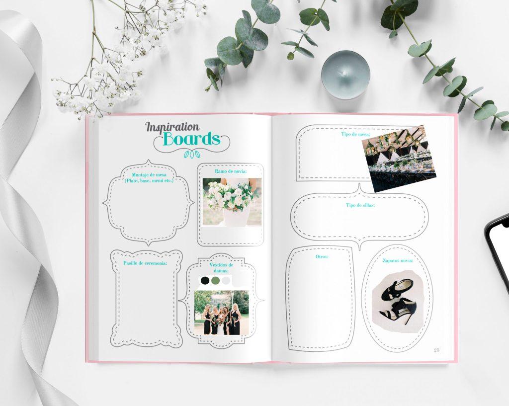 cóm organizar una boda con inspiración es muy fácil. Comienza creando tus inspiration boards en la agenda para boda