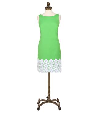 Fitch Shift Dress in Grasshopper Green $348