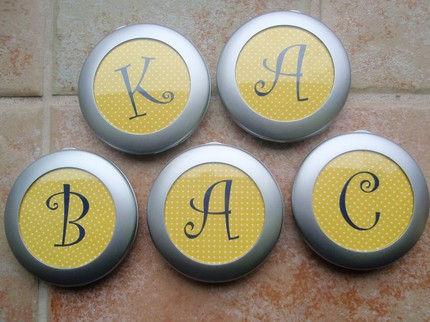 Monogrammed Compact Mirror from The Preppy Polka Dot