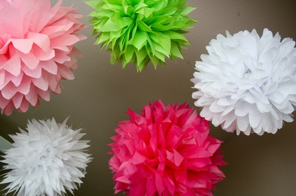 Girl Fun set of 5 from Party Poms on Etsy $25
