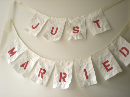Just Married Banner $45 from Etsy vendor  b.poetic