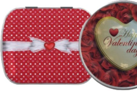 Elegant and Beautiful Valentine Mint or Candy Tins