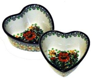 Heart Stoneware Bowls