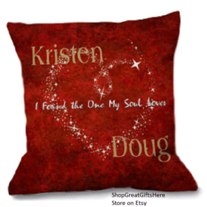 Romantic Pillows with Sentimental Messages