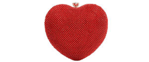 Heart Shaped Clutch Purses