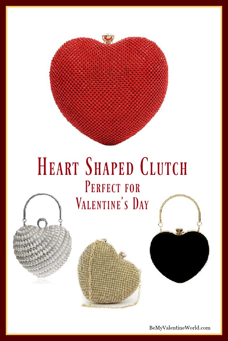 Heart Shapes Clutch Handbags