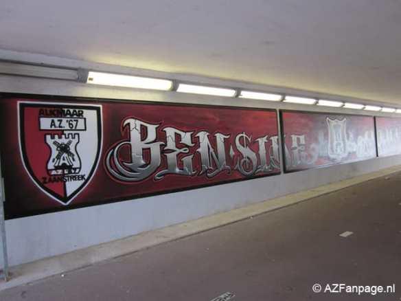 Beschildering tunnel naar Victorie Stadion, 2011