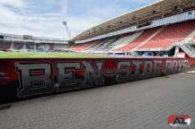 Graffiti voor de Van der Ben-tribune, 2018