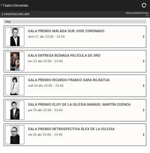 Listado de peliculas del festival de cine de Malaga