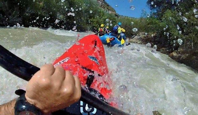 Piragüismo en el río Genil