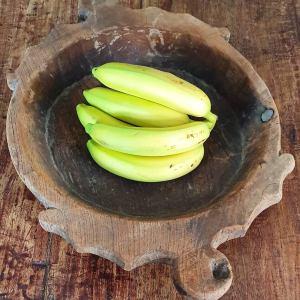 Houten schaal met fruit