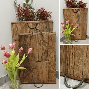 Een stoer houten plateau