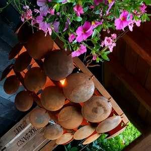 Schijfjeslamp roest 60 cm Benard's Woonaccessoires