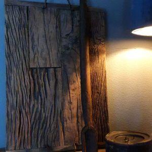 Railway houten plateau voor in een stoer en landelijk interieur Benard's Woonaccessoires