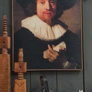 Rembrandt wanddecoratie afgedrukt op perkament bij Benard's Woonaccessoires