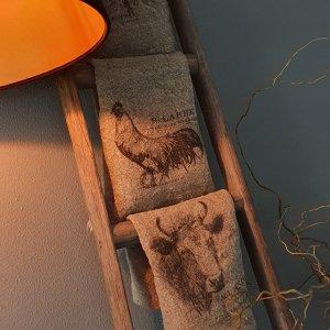 Shabbydoek klaproos leuk en decoratief voor in een landelijk interieur bij Benard's Woonaccessoires