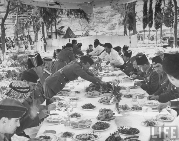 The Legion having a Banquet dinner. April 1948. John Phillips