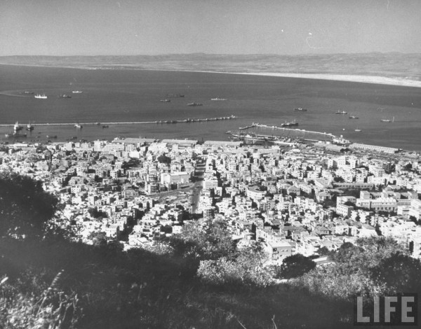 View of Haifa from Mt. Carmel in June 1948. Frank Scherschel
