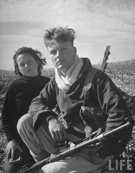 Boy and girl Haganah members. Tel Aviv, Israel. 1948. Dmitri Kessel