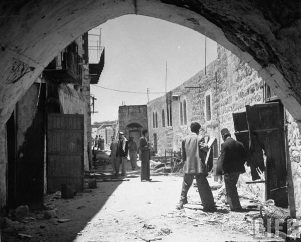 The Jewish Quarter of Jerusalem after Jews left
